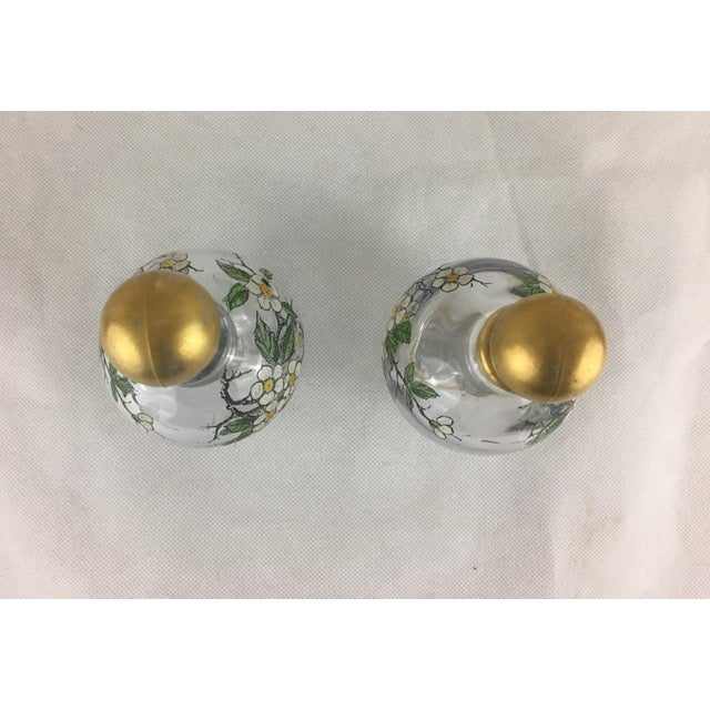 Late 18th Century Antique French Painted Glass Cruets - A Pair For Sale - Image 5 of 9