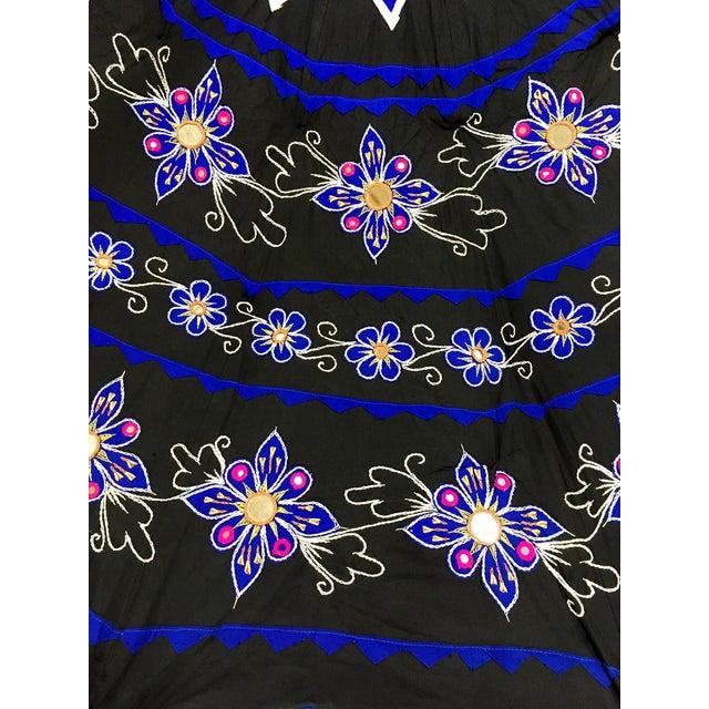Sun Umbrella Garden Umbrella, Embroidered Cotton - Image 8 of 11