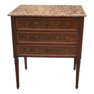 19th Century French Louis XVI Marble Top Commode For Sale