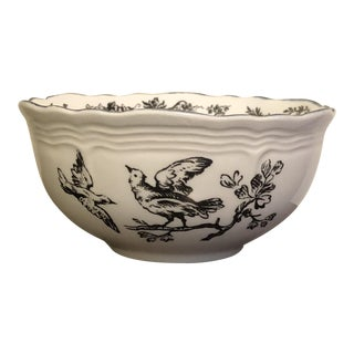 Toile New England Black Toile Game Birds by Tabletop Unlimited Sugar Bowl