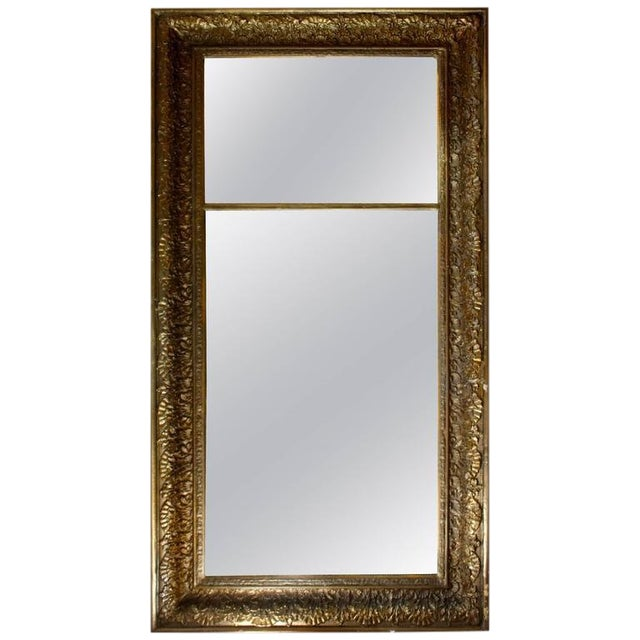 Late 18th Century Antique Giltwood Floor Mirror For Sale