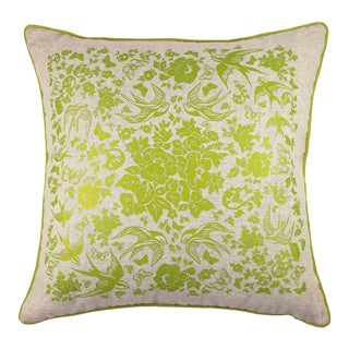 Swallow Garden Linen Pillow