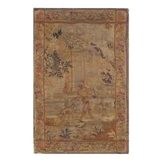 Late 19th Century Antique French Tapestry - 4′3″ × 7′ For Sale