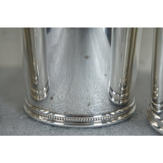 Sterling Silver Mark J Scearce Presidential Mint Julep Cups Richard Nixon Rmn - Set of 3 For Sale - Image 12 of 13