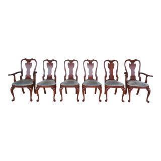Henkel Harris Cherry Georgian Style Set of 6 Chairs Model 103 Finish #24