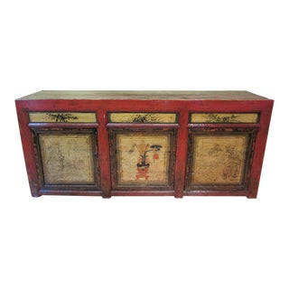 Distressed Antique Chinese Cabinet For Sale