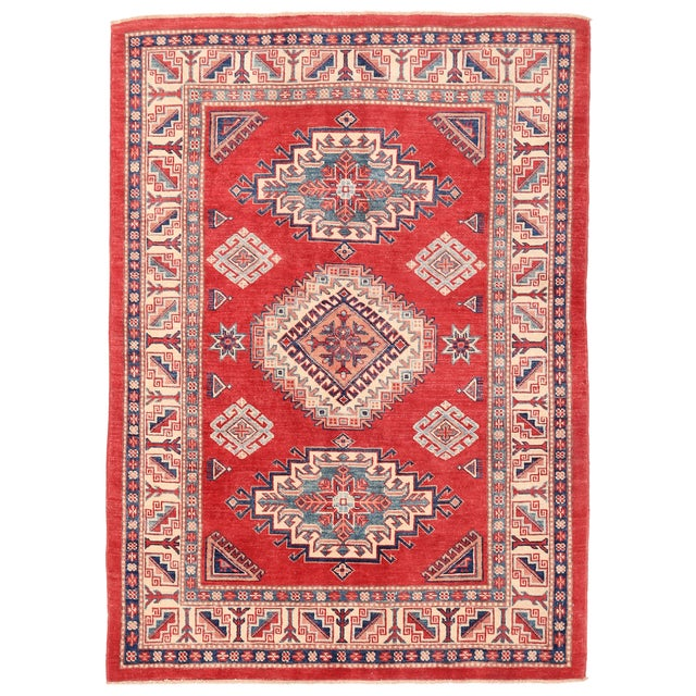 "Pasargad Kazak Wool Rug - 4' 9"" X 6' 8"" For Sale"