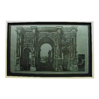 """Original Fornasetti """"Arco Romano"""" Zinc Lithograph Plate by Piero Fornasetti For Sale"""