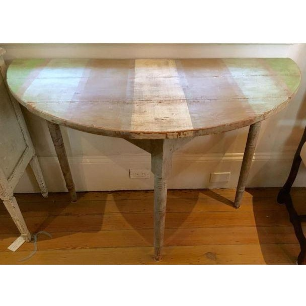 Mid 19th Century 19th C. Pair of Swedish Demilune Consoles For Sale - Image 5 of 6