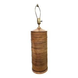 Vintage Pencil Reed Lamp