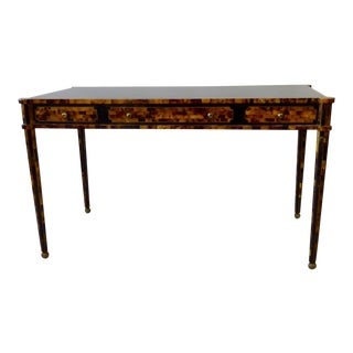 Tessellated Horn Writing Desk in the Style of Karl Springer For Sale