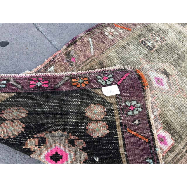 1960s Vintage Distressed Rug- 1′8″ × 2′10″ For Sale - Image 4 of 6