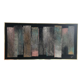 1980s Abstract Painting Signed by Lee Reynolds For Sale