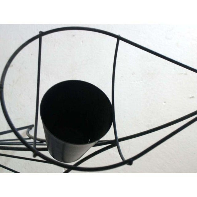 Mid-Century Modern Frederick Weinberg Black Iron Fish Sculpture For Sale - Image 3 of 5