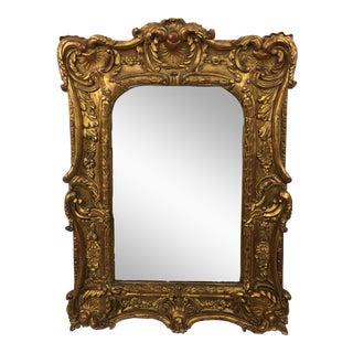 20th Century Italian Ornate Gilt Detailed Mirror For Sale