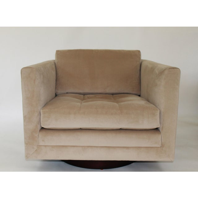 Fabric Harvey Probber Swivel Cube Chairs - a Pair For Sale - Image 7 of 12