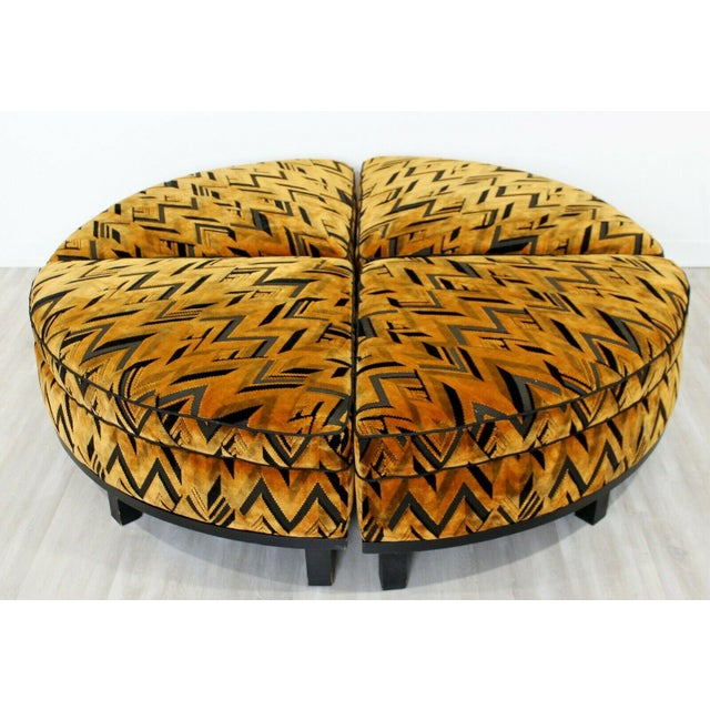 For your consideration is a magnificent, four piece sectional ottoman, by Edward Wormley for Dunbar, with Tressard fabric,...