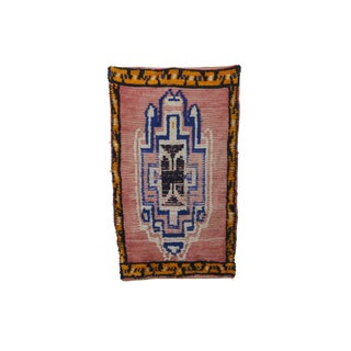 1970s Vintage Moroccan Boujad Rug - 3′4″ × 5′7″ For Sale