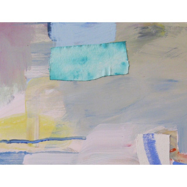 Untitled Pink & Grey Landscape...an abstract painting based on my memories of the beaches in the Gulf South. Layers of...