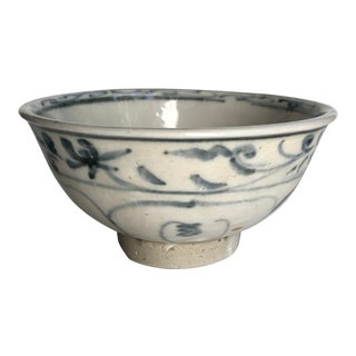 15th Century Blue and White Pottery Bowl, Hoi-An Hoard, Vietnam For Sale
