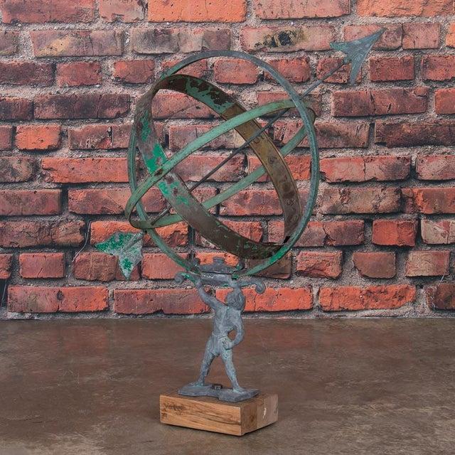 Brass Early 21st Century Antique Style Danish Garden Armillary / Sun Clock For Sale - Image 7 of 7