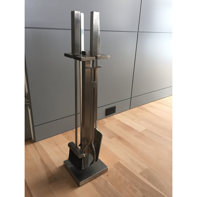 We are selling our home and have three fireplaces, thus 2 tool sets are available. These substantial brushed nickel...
