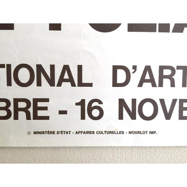 Blue Serge Poliakoff Rare Vintage 1970 Mourlot Lithograph Print Modernist Paris Exhibition Poster For Sale - Image 8 of 13