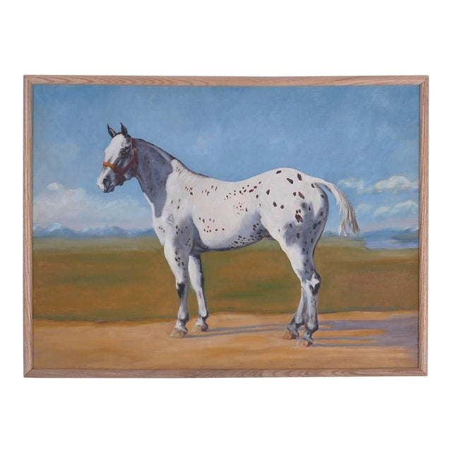 Oil Painting of a Horse on Board For Sale