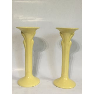 Vintage Haeger Art Deco Vase and Candle Holders - Set of 3 Preview