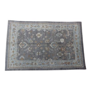 Turkish Oushak Ushak Blue & Gray Rug -7″ × 10″