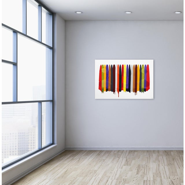"White ""Fils I Colors Cccxcii"" Original Artwork by Raul De La Torre For Sale - Image 8 of 9"