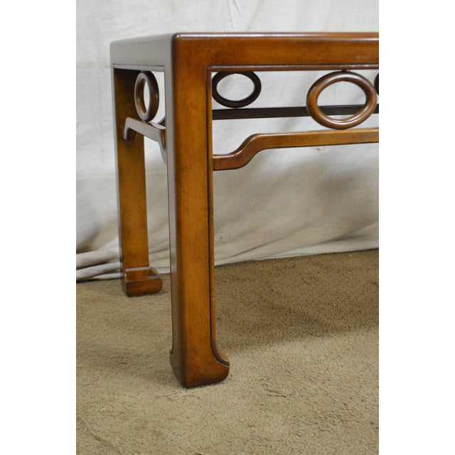 1960s Mid-Century Modern James Mont Style Asian Influenced Side Table For Sale - Image 5 of 13