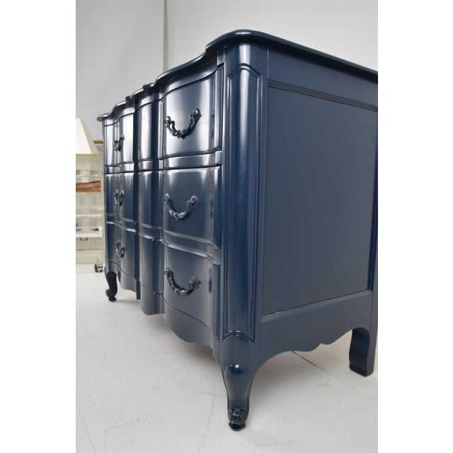 Blue Lacquered French Style Commode - Image 7 of 9