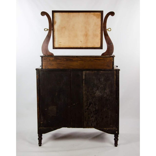 19th Century American Empire 6-Drawer Mahogany Vanity Dresser For Sale - Image 12 of 13