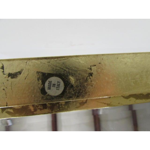 Mastercraft Brass Console Table with Greek Key Embellishments - Image 7 of 11