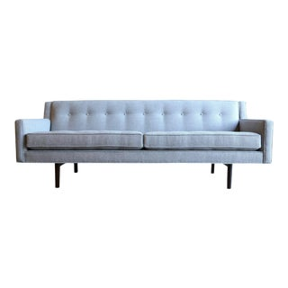 Mid-Century Modern Edward Wormley for Dunbar Bracket Back Grey Sofa