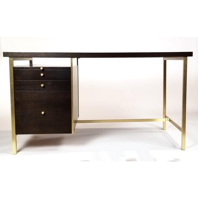 Paul McCobb Brass & Mahogany Desk for the Connoisseur Collection H. Sacks & Sons For Sale - Image 11 of 11