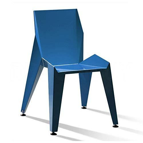 Blue Origami Inspired Edge Blue Chair | Indoor & Outdoor Chair For Sale - Image 8 of 8