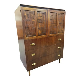 Bert England for Johnson Furniture Mid-Century Dresser Gentleman's Chest For Sale