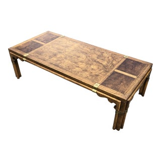 1960s Asian Inspired Campaign Style Coffee Table For Sale