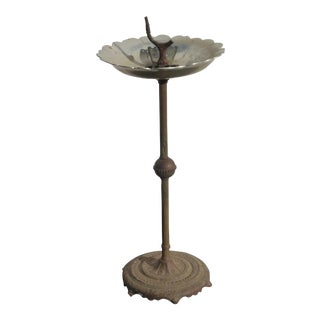 Antique Vintage French Provincial Style Ashtray Birdbath Feeder For Sale