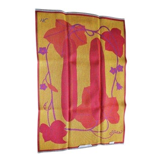 Kitchen Towel Hand Woven Tapestry Artist Ylva Kongbäck Summer Garden Squash For Sale