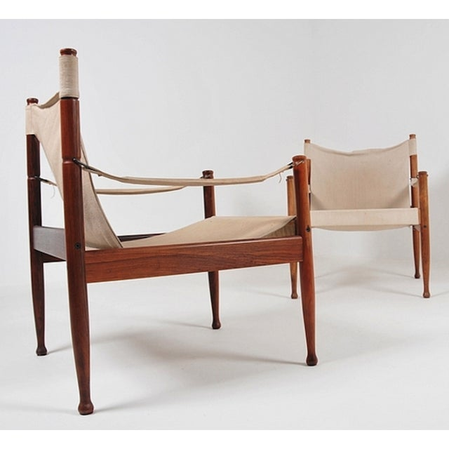 Safari Sling Lounge Chairs by Erik Wørts - A Pair - Image 3 of 6