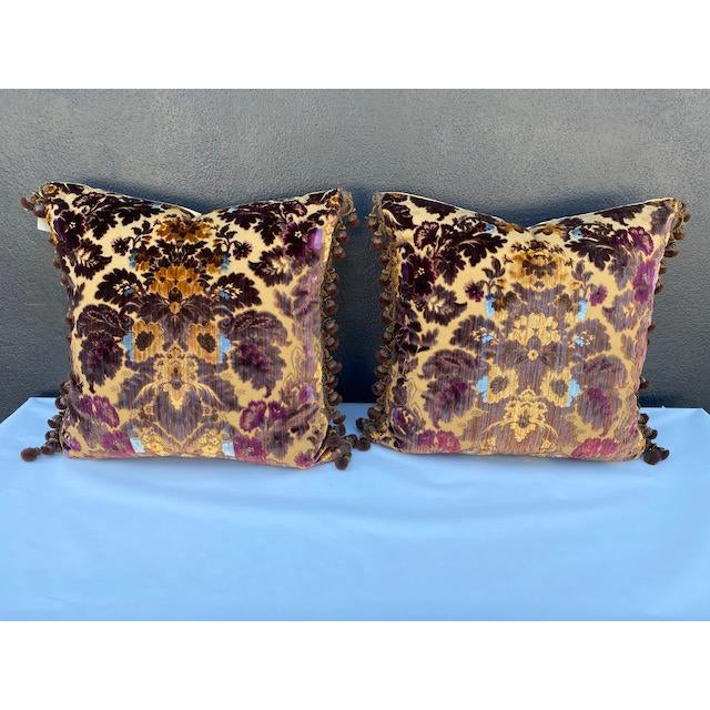 Luigi-Bevilacqua Silk Velvet Pillows - A Pair For Sale - Image 9 of 9