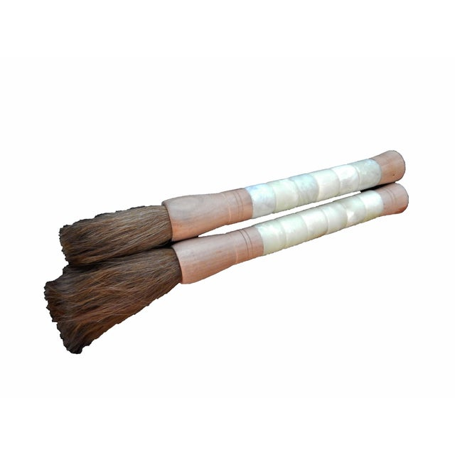 Chinese Calligraphy Brushes - A Pair - Image 8 of 8