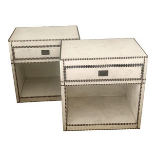 Restoration Hardware Marseilles Open Nightstands - a Pair For Sale