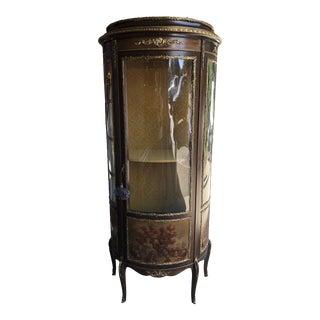 Vintage Victorian Display Cabinet For Sale