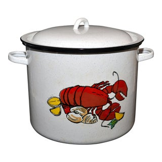 Vintage Enamel Lobster Pot