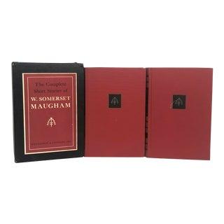 Decorative Red & Black Book Set in Slipcase - Set of 2 For Sale