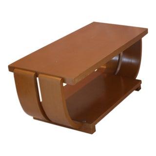 Original Art Deco Light Wood Brown Saltman Coffee Table